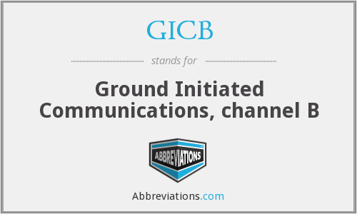 What does GICB stand for?