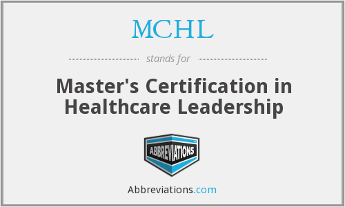 What does MCHL stand for?