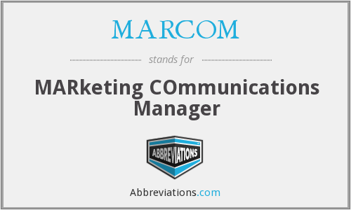 What does MARCOM stand for?