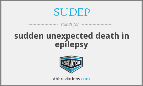 What does SUDEP stand for?