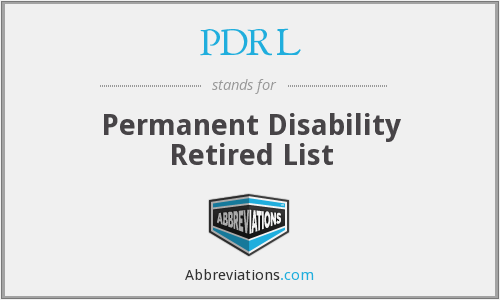 What does PDRL stand for?