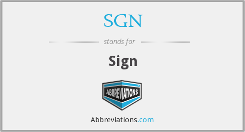 What does SGN stand for?