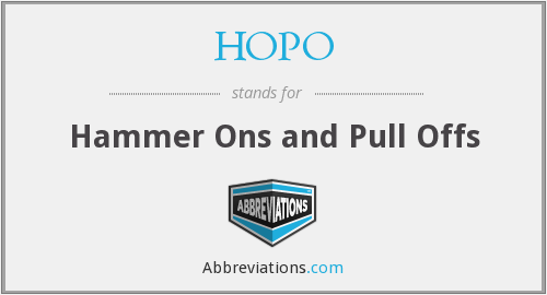 What does HOPO stand for?