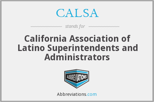 What does CALSA stand for?