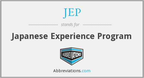 What does JEP stand for?