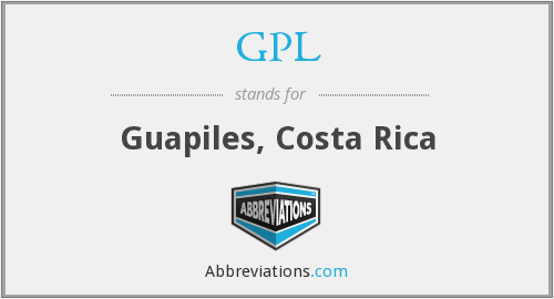 What does GPL stand for?