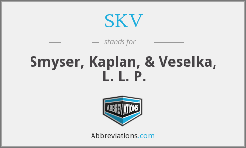 What does SKV stand for?