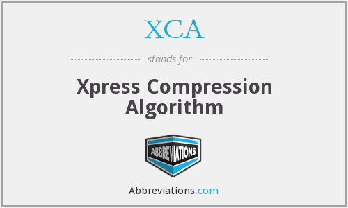 What does XCA stand for?