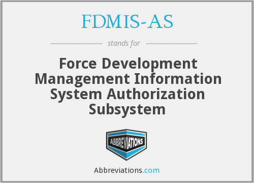 What does FDMIS-AS stand for?