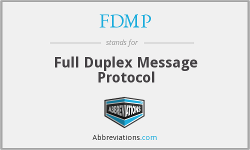 What does FDMP stand for?
