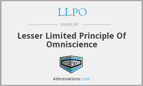 What does LLPO stand for?