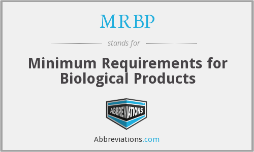 What does MRBP stand for?