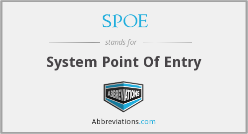 What does SPOE stand for?