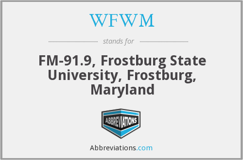 What does WFWM stand for?