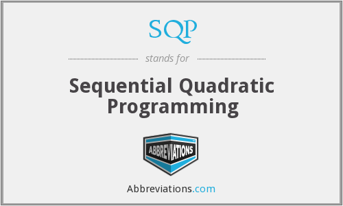What does SQP stand for?