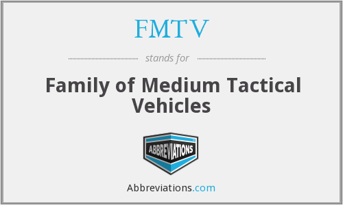 What does FMTV stand for?