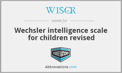 What does WISC-R stand for?