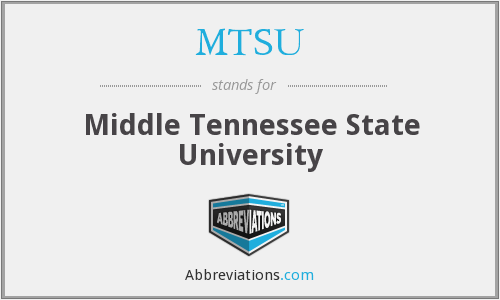 What does MTSU stand for?