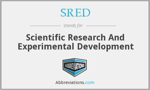 What does SRED stand for?