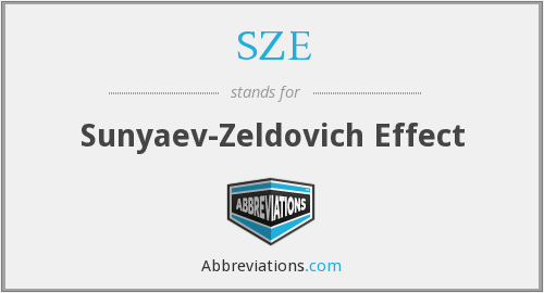 What does SZE stand for?
