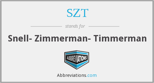 What does SZT stand for?
