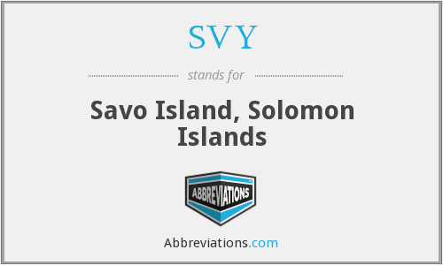 What does SVY stand for?
