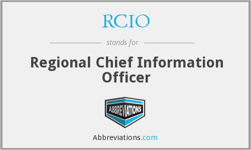 What does RCIO stand for?