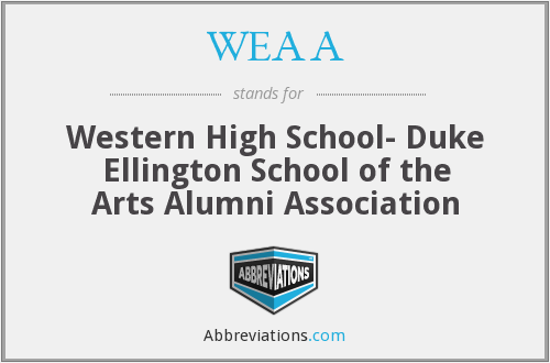 What does WEAA stand for?