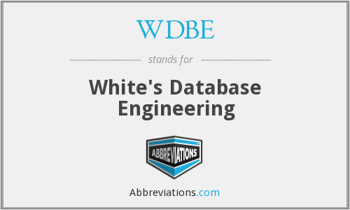 What does WDBE stand for?