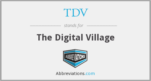 What does TDV stand for?