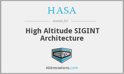 What does HASA stand for?