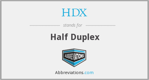 What does HDX stand for?
