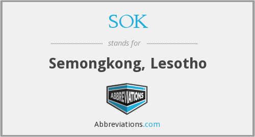 What does SOK. stand for?
