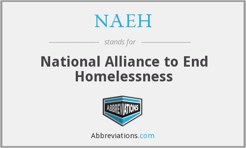 What does NAEH stand for?