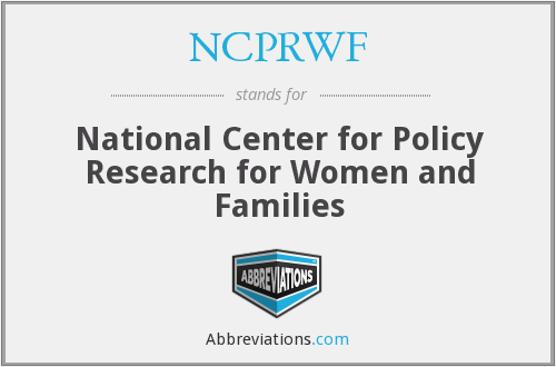 What does NCPRWF stand for?