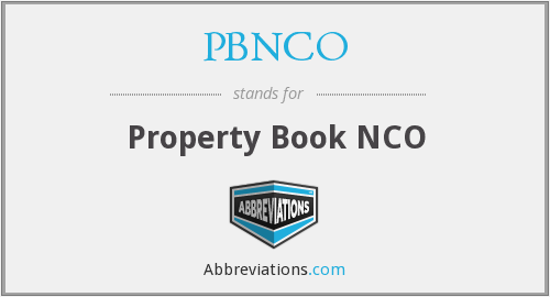 What does PBNCO stand for?