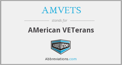 What does AMVETS stand for?