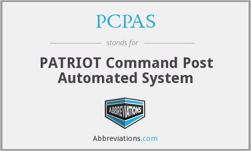 What does PCPAS stand for?