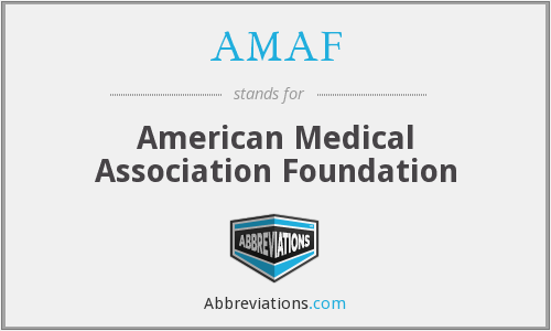 What does AMAF stand for?