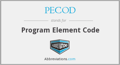 What does PECOD stand for?