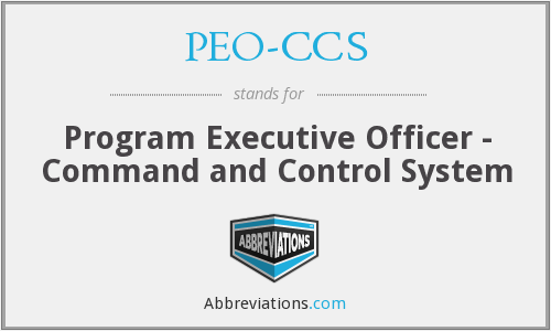 What does PEO-CCS stand for?