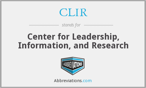 What does CLIR stand for?