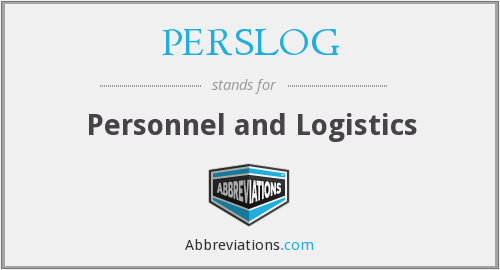 What does PERSLOG stand for?