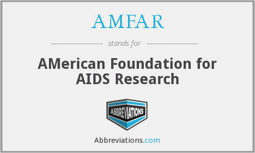 What does AMFAR stand for?