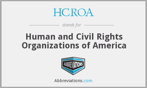 What does HCROA stand for?
