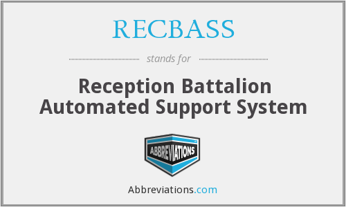 What does RECBASS stand for?