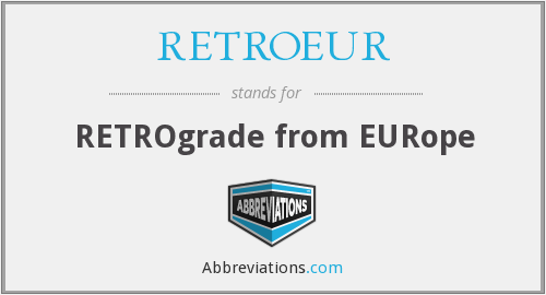 What does RETROEUR stand for?