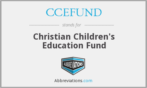 What does CCEFUND stand for?