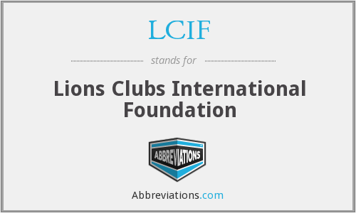 What does LCIF stand for?