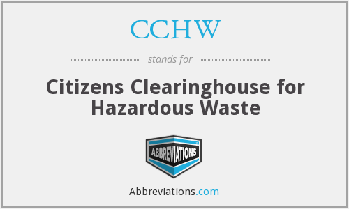 What does CCHW stand for?